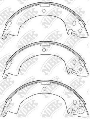 NIBK FN6664 Комплект тормозных колодок