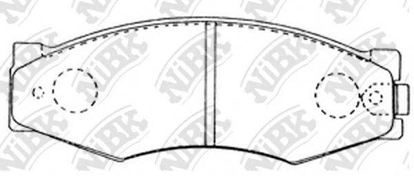 NIBK PN2105 Комплект тормозных колодок, дисковый тормоз