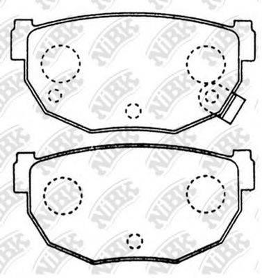 NIBK PN2377 Комплект тормозных колодок, дисковый тормоз