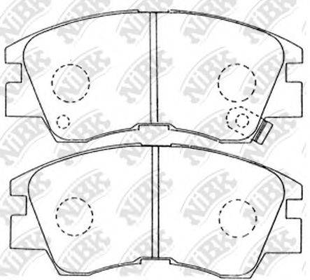 NIBK PN3172 Комплект тормозных колодок, дисковый тормоз