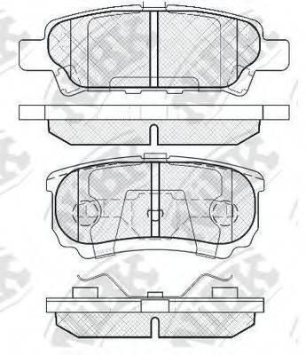 NIBK PN3502 Комплект тормозных колодок, дисковый тормоз