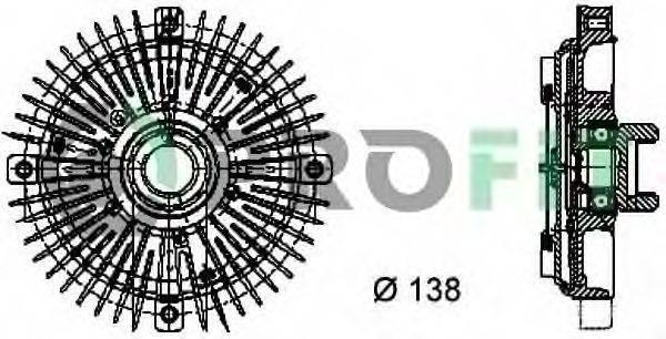 PROFIT 17201010 Сцепление, вентилятор радиатора