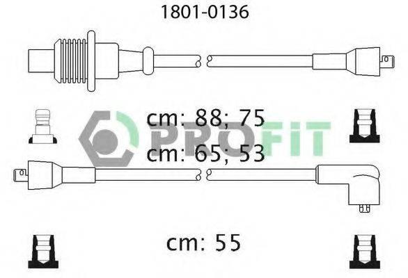 PROFIT 18010136 Комплект проводов зажигания