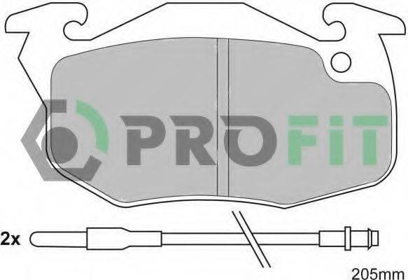 PROFIT 50000393 Комплект тормозных колодок, дисковый тормоз