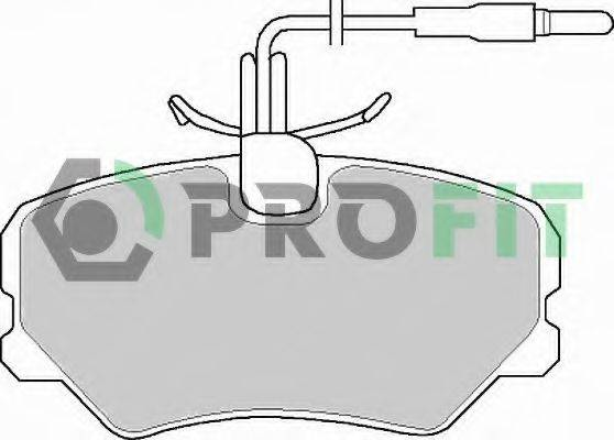 PROFIT 50000540 Комплект тормозных колодок, дисковый тормоз