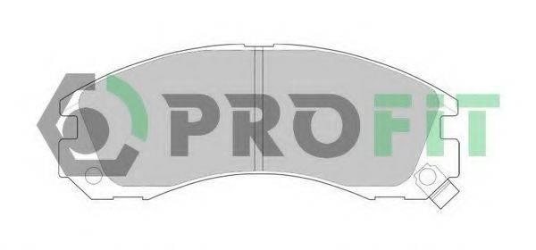 PROFIT 50000765 Комплект тормозных колодок, дисковый тормоз