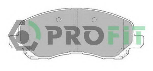 PROFIT 50001621 Комплект тормозных колодок, дисковый тормоз