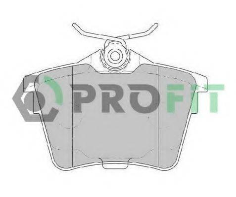 PROFIT 50001727 Комплект тормозных колодок, дисковый тормоз