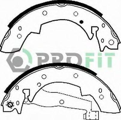 PROFIT 50010173 Комплект тормозных колодок