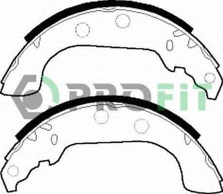 PROFIT 50010268 Комплект тормозных колодок
