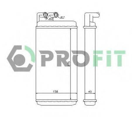 PROFIT PR0012N1 Теплообменник, отопление салона