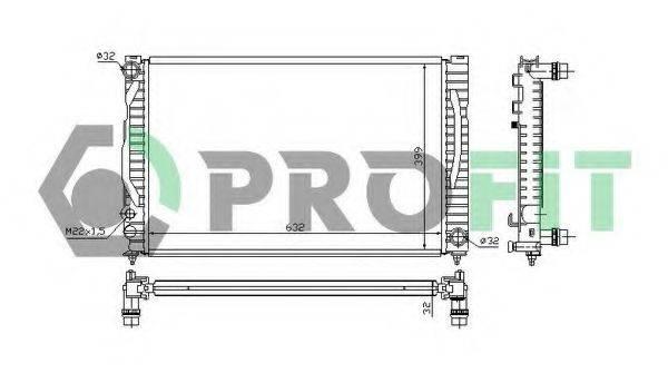 PROFIT PR0014A1 Радиатор, охлаждение двигателя