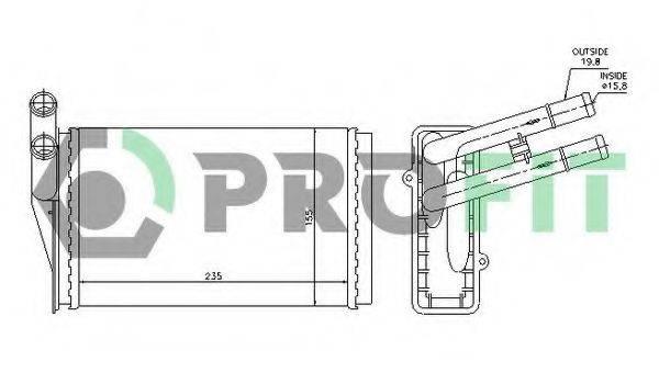 PROFIT PR0018N1 Теплообменник, отопление салона