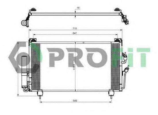 PROFIT PR1602C1 Конденсатор, кондиционер