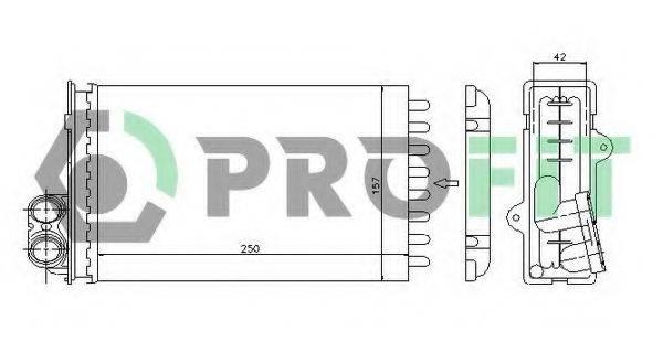 PROFIT PR5538N1 Теплообменник, отопление салона