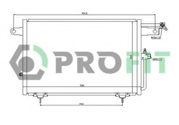 PROFIT PR9530C1 Конденсатор, кондиционер