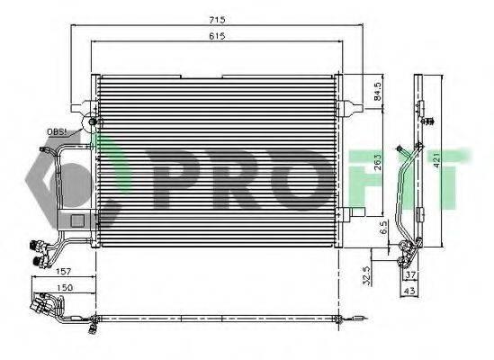 PROFIT PR9540C3 Конденсатор, кондиционер