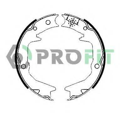 PROFIT 50010011 Комплект тормозных колодок