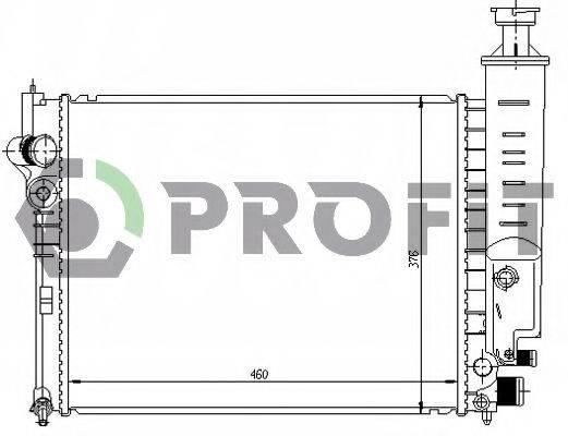 PROFIT PR0540A3 Радиатор, охлаждение двигателя