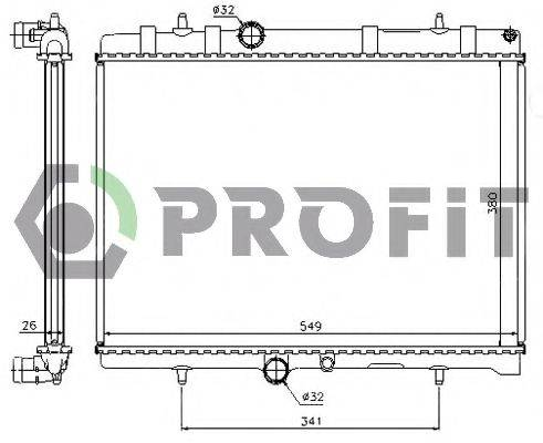 PROFIT PR0522A1 Радиатор, охлаждение двигателя