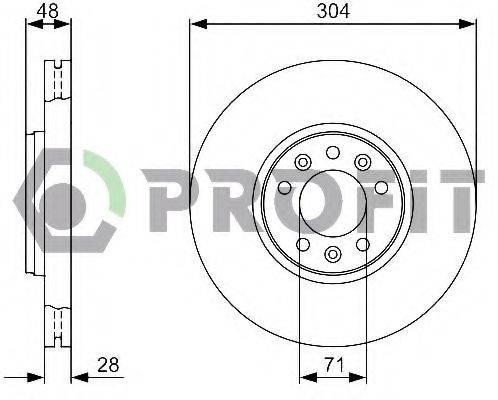 PROFIT 50101615 Тормозной диск