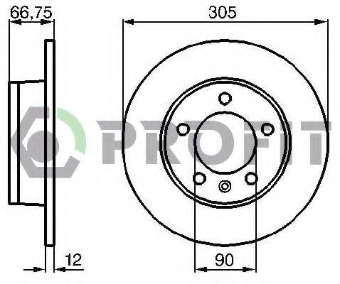 PROFIT 50101272 Тормозной диск