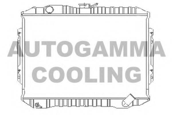 AUTOGAMMA 100593 Радиатор, охлаждение двигателя