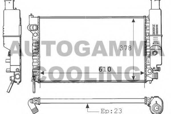 AUTOGAMMA 100765 Радиатор, охлаждение двигателя