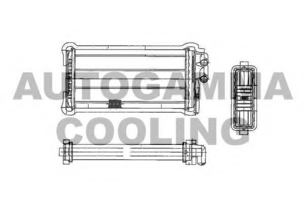 AUTOGAMMA 101607 Теплообменник, отопление салона