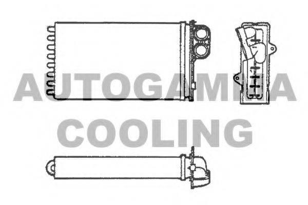 AUTOGAMMA 101636 Теплообменник, отопление салона