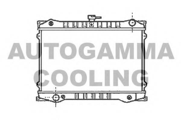 AUTOGAMMA 102183 Радиатор, охлаждение двигателя