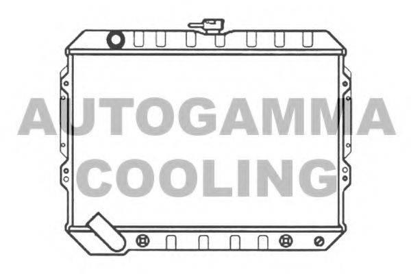 AUTOGAMMA 103486 Радиатор, охлаждение двигателя