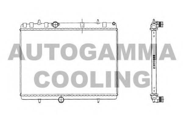 AUTOGAMMA 103638 Радиатор, охлаждение двигателя