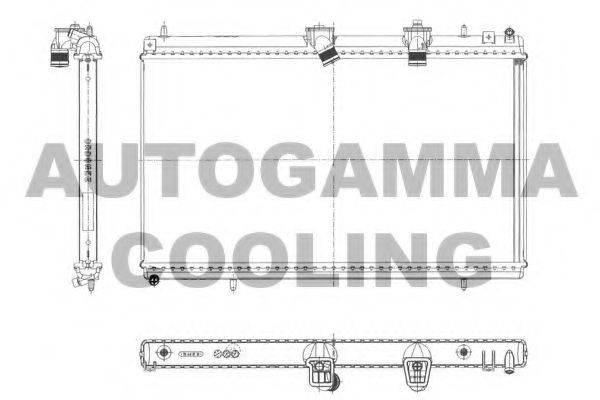 AUTOGAMMA 103643 Радиатор, охлаждение двигателя