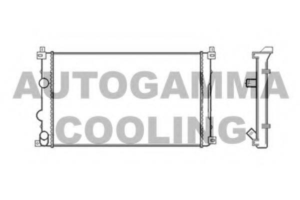 AUTOGAMMA 104117 Радиатор, охлаждение двигателя