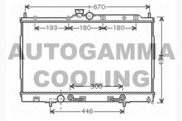 AUTOGAMMA 104604 Радиатор, охлаждение двигателя