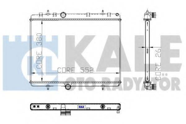 KALE OTO RADYATOR 310800 Радиатор, охлаждение двигателя