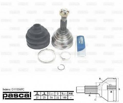 PASCAL G11006PC Шарнирный комплект, приводной вал