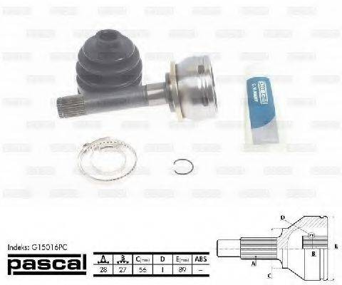 PASCAL G15016PC Шарнирный комплект, приводной вал