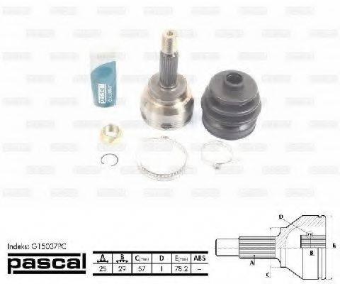 PASCAL G15037PC Шарнирный комплект, приводной вал
