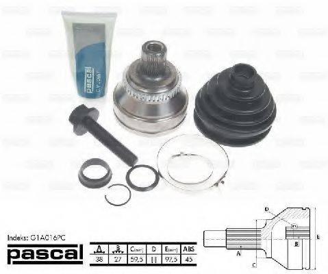 PASCAL G1A016PC Шарнирный комплект, приводной вал