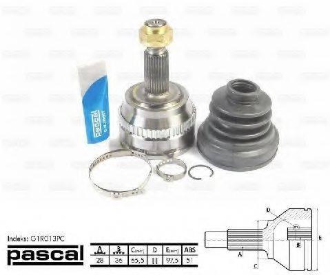 PASCAL G1R013PC Шарнирный комплект, приводной вал