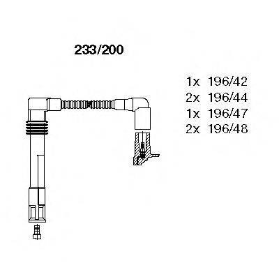 BREMI 233200 Комплект проводов зажигания