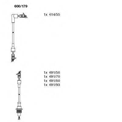 BREMI 600179 Комплект проводов зажигания
