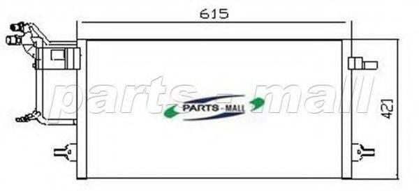 PARTS-MALL PXNCT003 Конденсатор, кондиционер