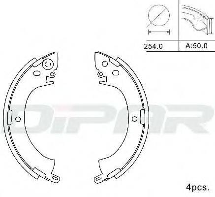 DITAS DPB1013 Комплект тормозных колодок