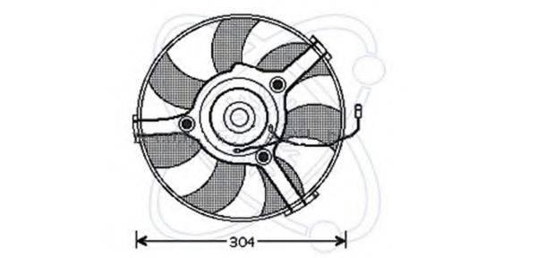 ELECTRO AUTO 32VB004 Вентилятор, охлаждение двигателя