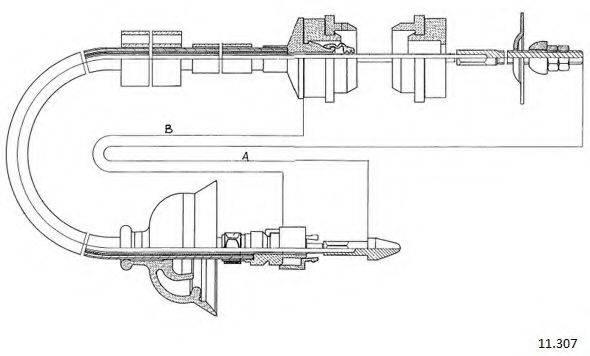 CABOR 11307 Трос, управление сцеплением