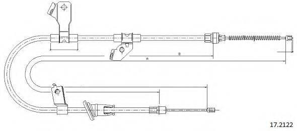 CABOR 172122 Трос, стояночная тормозная система