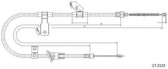 CABOR 172123 Трос, стояночная тормозная система
